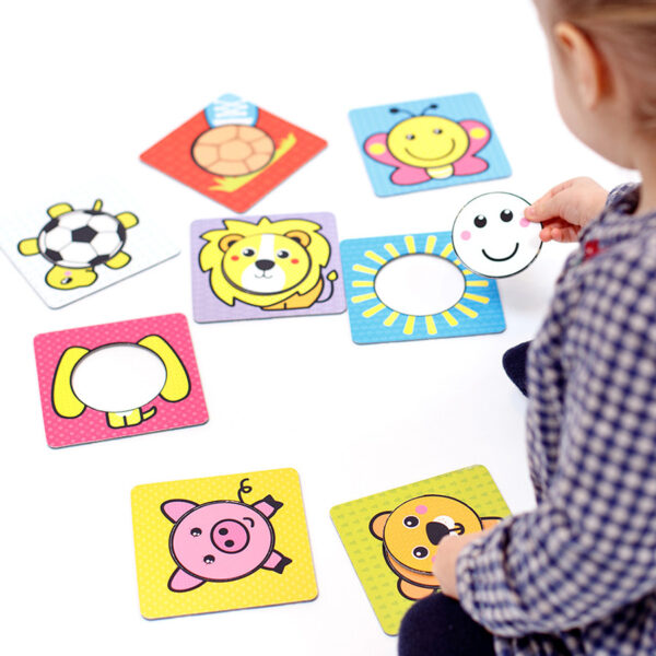 First Shapes Circles 12m+ mix and match creative puzzle set for toddlers