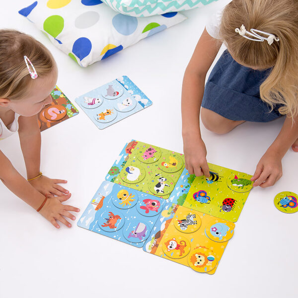Let's Play Animal Bingo 2+ animal habitats bingo game