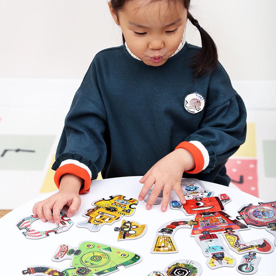 Robots educational puzzle set - Mix and Match Robots 3+