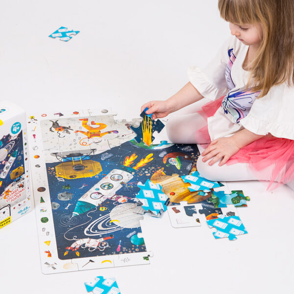 Observation Puzzle Space - jigsaw puzzle and poster for kids 4 and up