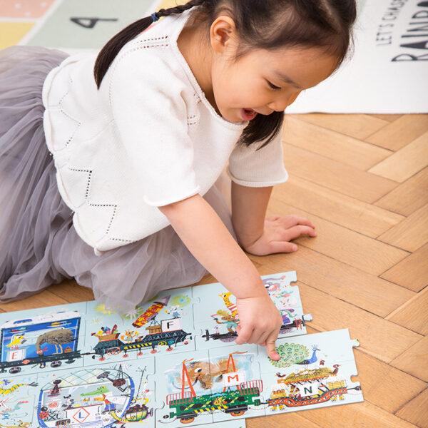 Suuuper Size Puzzle Alphabet Train 3+ Learning alphabet 2 piece puzzles for preschoolers