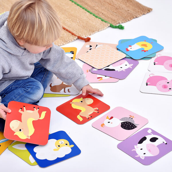 Memory Game with animals for toddlers - Suuuper Size Memory Game