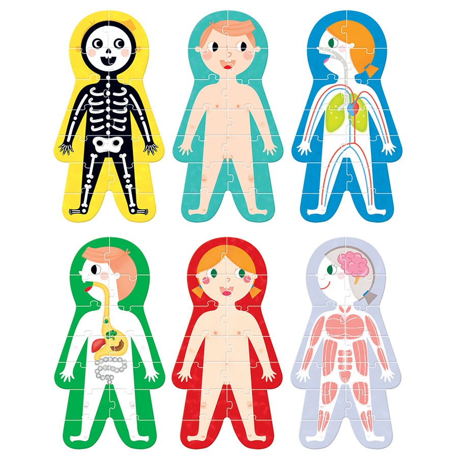 Educational puzzle and poster set for preschoolers - Suuuper Size Puzzles My Body