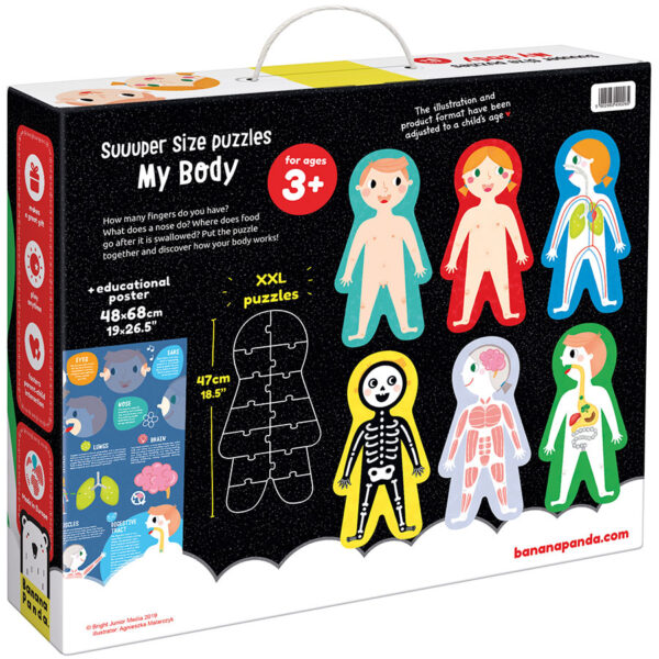 Suuuper Size Puzzles My Body - jumbo floor puzzles with interchangeable pieces