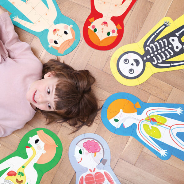 Creative puzzles with mix and match pieces - Suuuper Size Puzzles My Body