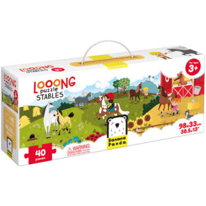 Looong puzzle Stables - jigsaw puzzle and progressive puzzle for preschoolers