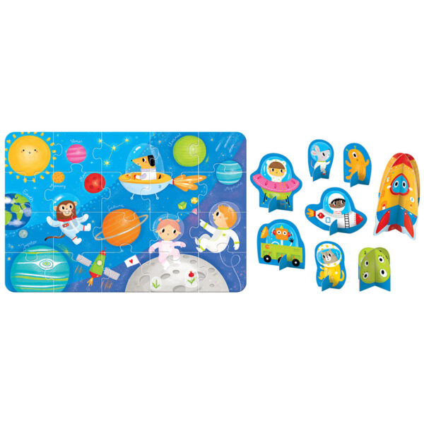 Figure it out puzzle Space - floor jigsaw puzzle for toddlers