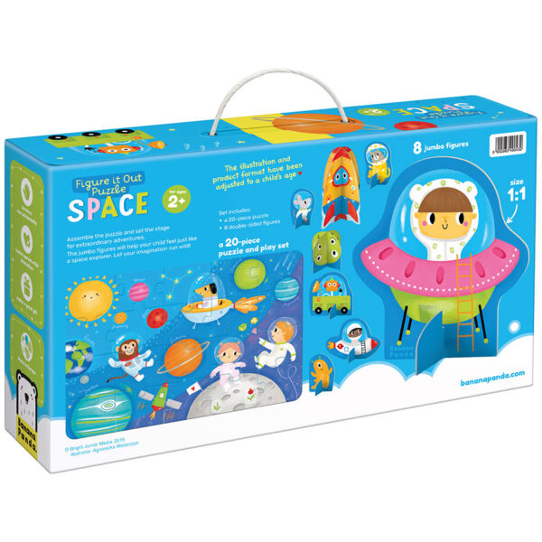 space puzzle educational and play set - Figure it out puzzle Space