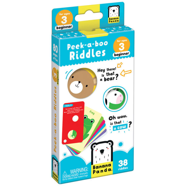 Peek-a-boo Riddles 3 beginner - picture book with fun riddles for kids 3+