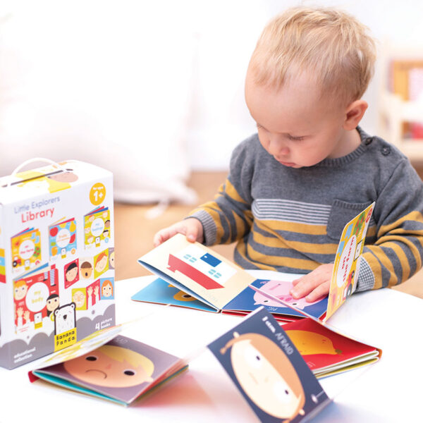 Accordion book set for babies 1+ - Little Explorers Library