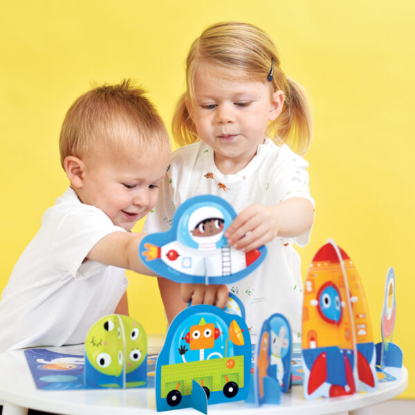 Figure it out puzzle Space - educational puzzle with jumbo figures