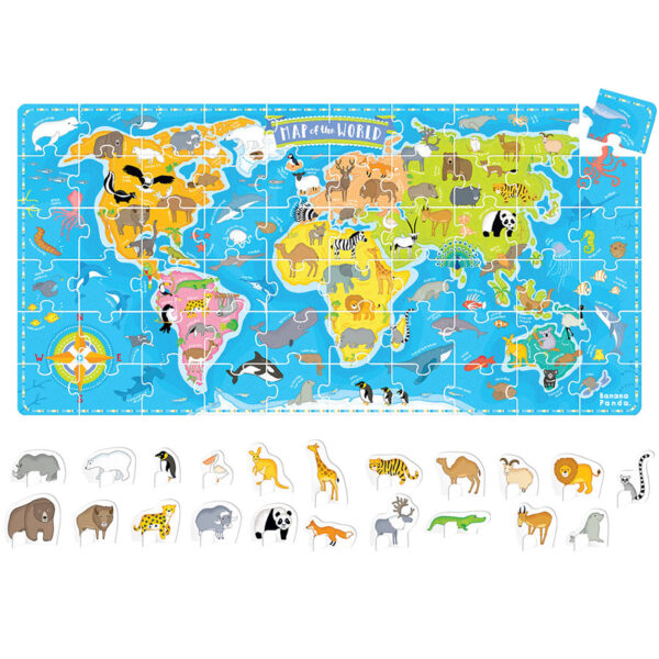 What in the World Animals Around the World 4+ educational puzzle and play set