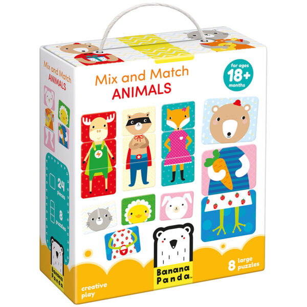 Animals jigsaw puzzle for kids 18m+ - Mix and Match Animals