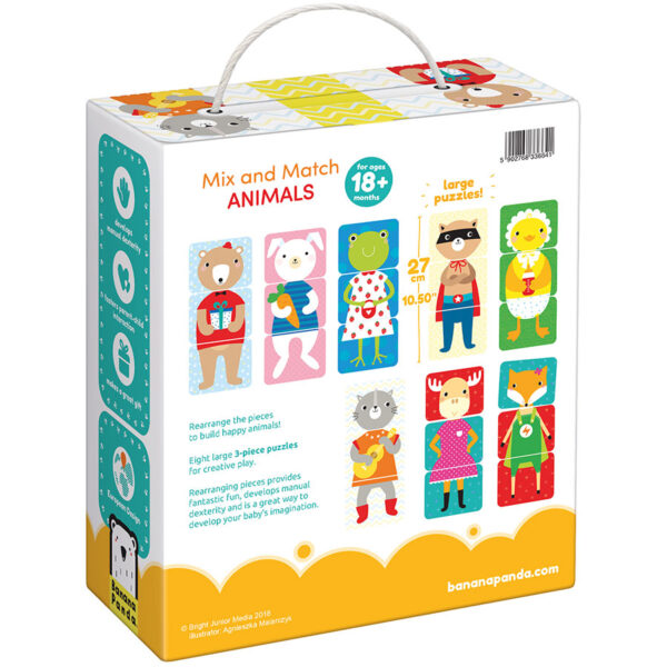 Matching puzzle and activity for toddlers - Mix and Match Animals 18m+