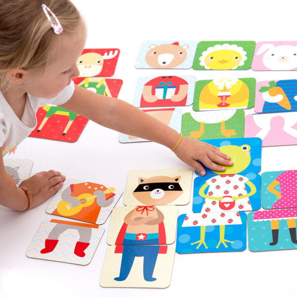 Animals floor puzzle for toddlers - Mix and Match Animals 18m+