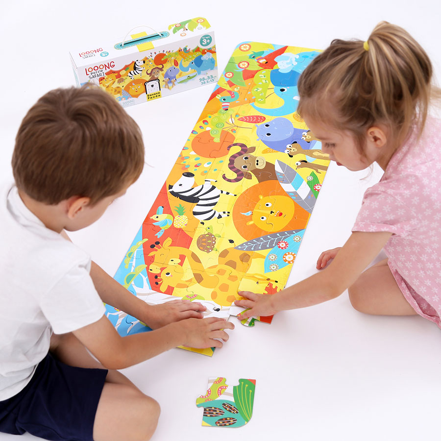 Looong Puzzle Safari - large jigsaw puzzle for kids 3 and up