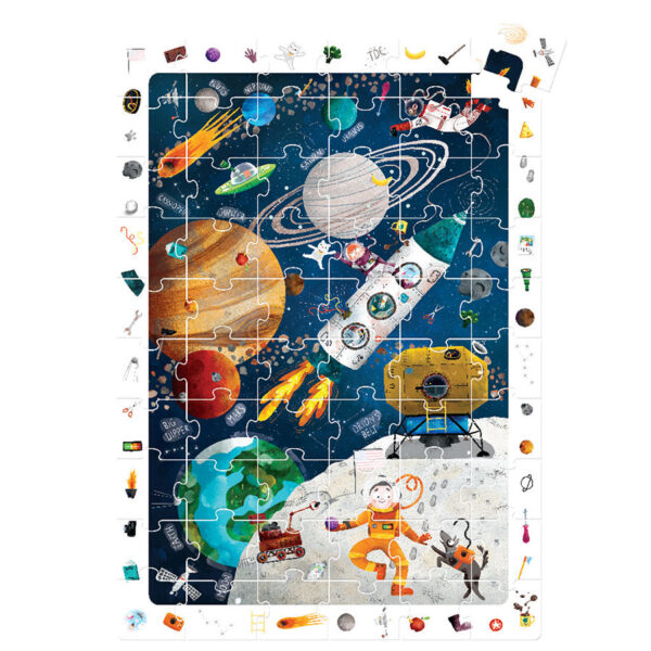 Space puzzle with poster - Observation Puzzle Space