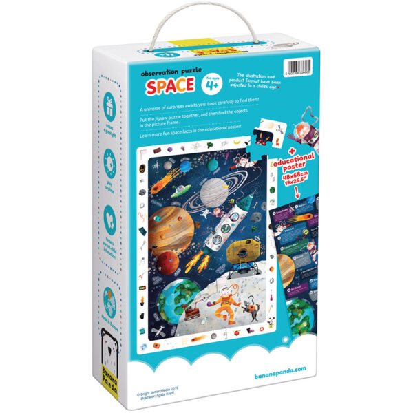 Observation Puzzle Space - space floor puzzle and educational poster