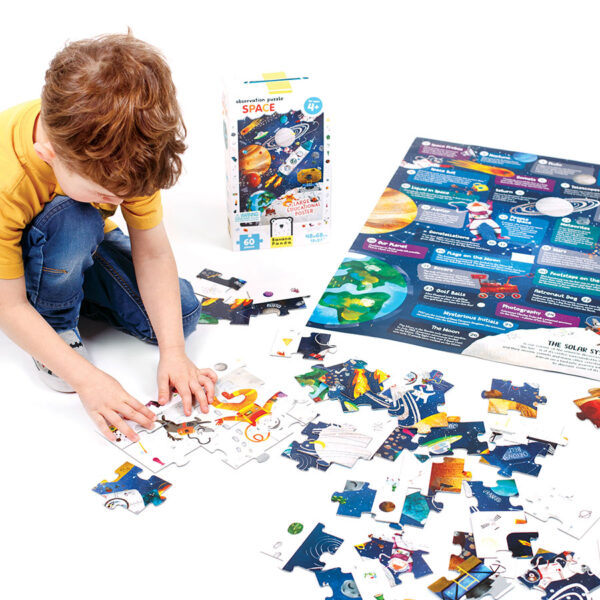 Floor puzzle space for preschoolers - Observation Puzzle Space 4+