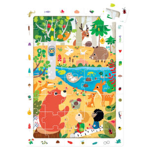 Observation Puzzle Forest - educational puzzle for kids 3+