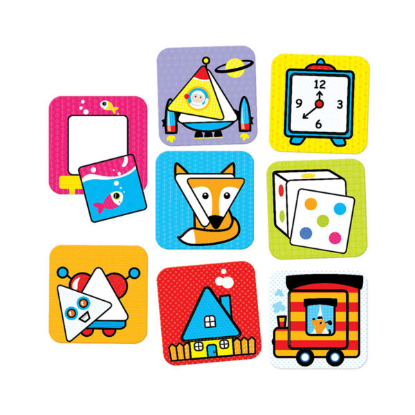 First Shapes Squares and Triangles 18m+ - first puzzle set for toddlers
