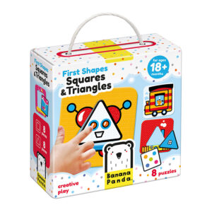 Shapes learning puzzle for toddlers - First Shapes Squares and Triangles 18m+
