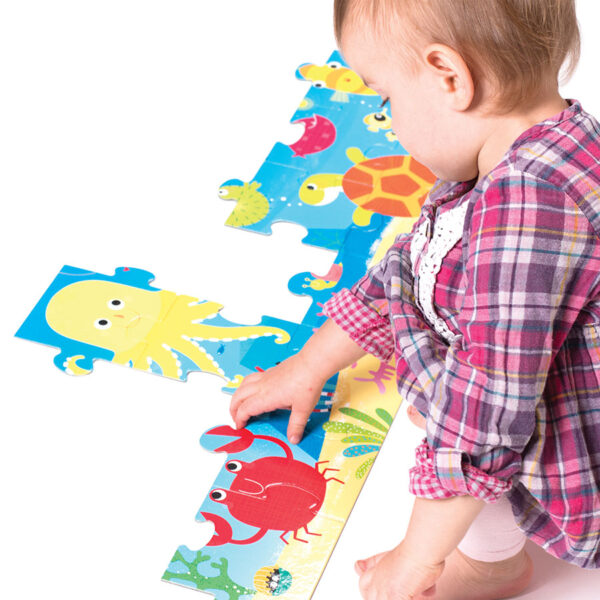 Ocean themed puzzle for toddlers - Looong Puzzle Ocean