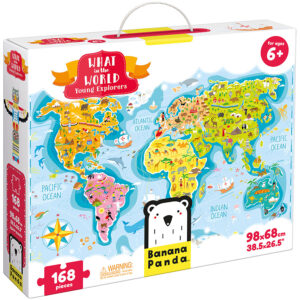 World map jumbo puzzle - What in the World Young Explorers 6+