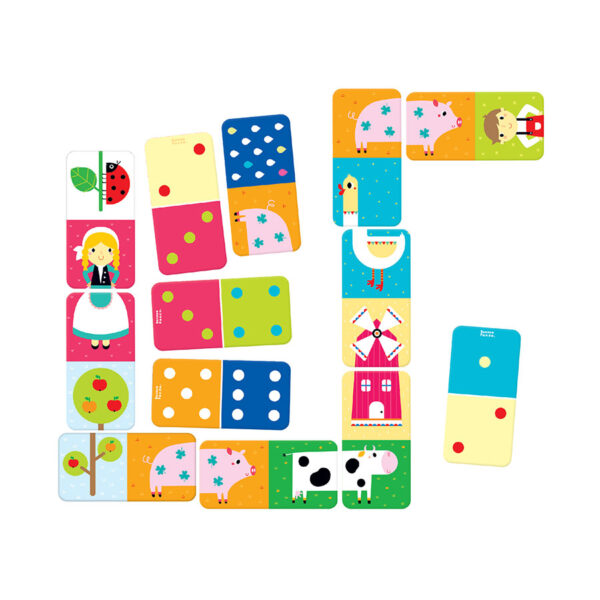 Let's Play Farm Dominoes - 2 in 1 picture and classic dominoes for toddlers