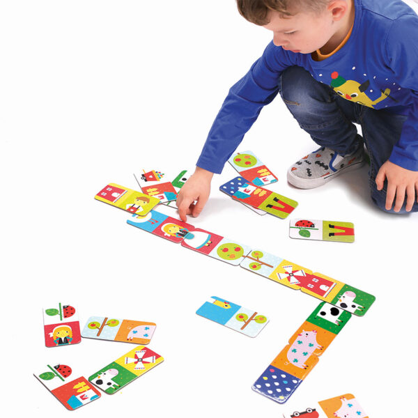 Let's Play Farm Dominoes 2+ dominoes matching game for toddlers