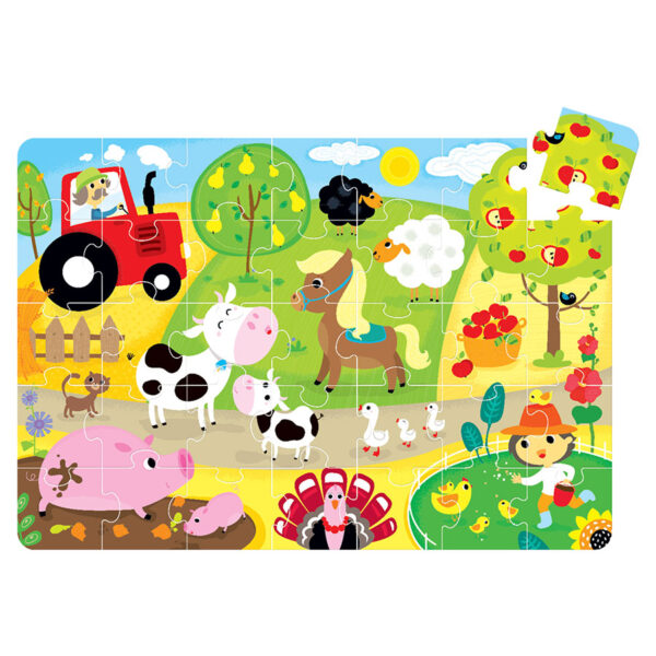Suuuper Size Puzzle On the Farm - jigsaw puzzle for kids 2+