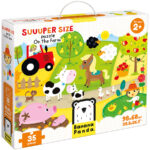 Suuuper Size Puzzle On the Farm - farm animals puzzle for kids 2+
