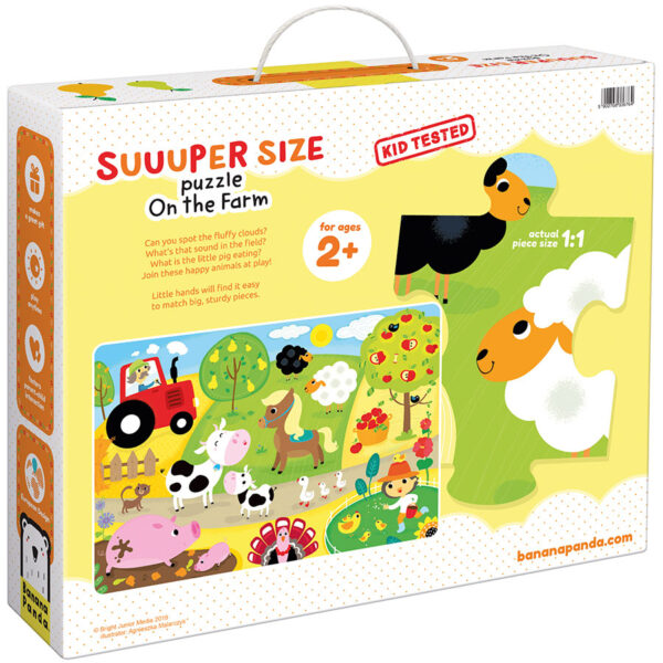 Farm jumbo floor puzzle for toddlers - Suuuper Size Puzzle On the Farm