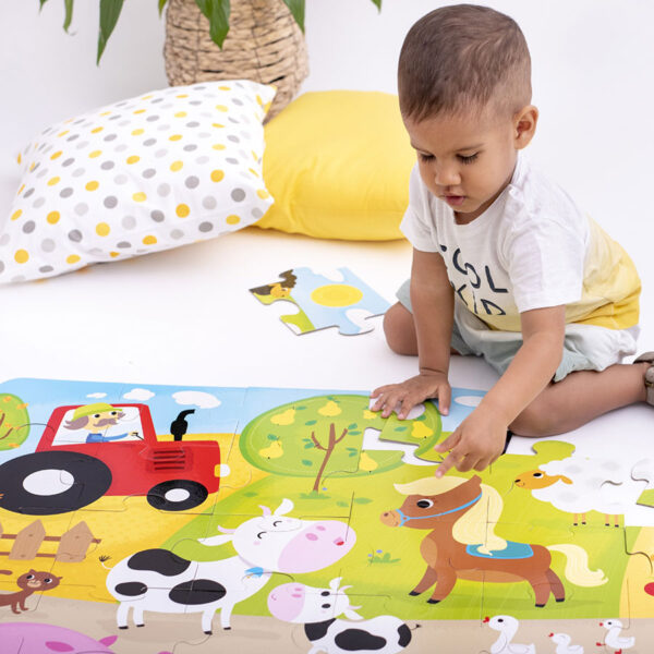 Farm giant floor puzzle for toddlers - Suuuper Size Puzzle On the Farm