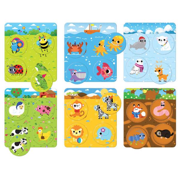 World animals bingo game - Let's Play Animal Bingo 2+