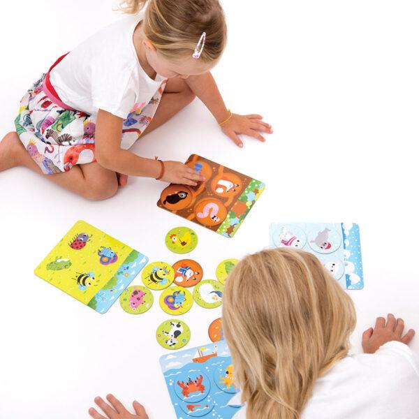 Bingo educational game set - Let's Play Animal Bingo 2+