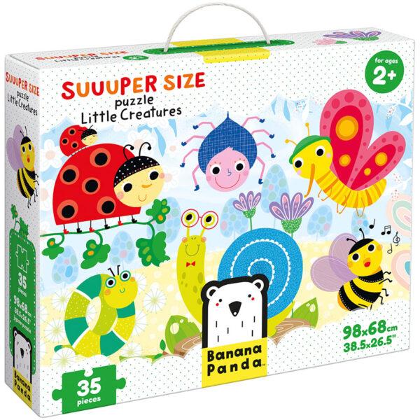 Suuuper Size Puzzle Little Creatures - meadow puzzle for kids 2+