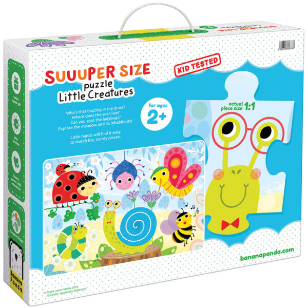 Suuuper Size Puzzle Little Creatures - jumbo floor puzzle for toddlers
