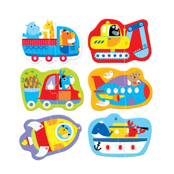 2 piece puzzles for toddlers - Puzzle Pairs Vehicles 18m+