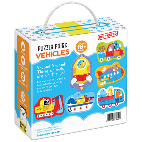 Pair puzzles for toddlers - Puzzle Pairs Vehicles 18m+