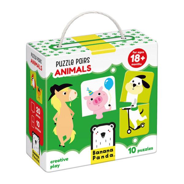 Matching toddler puzzles - Puzzle Pairs Animals 18m+