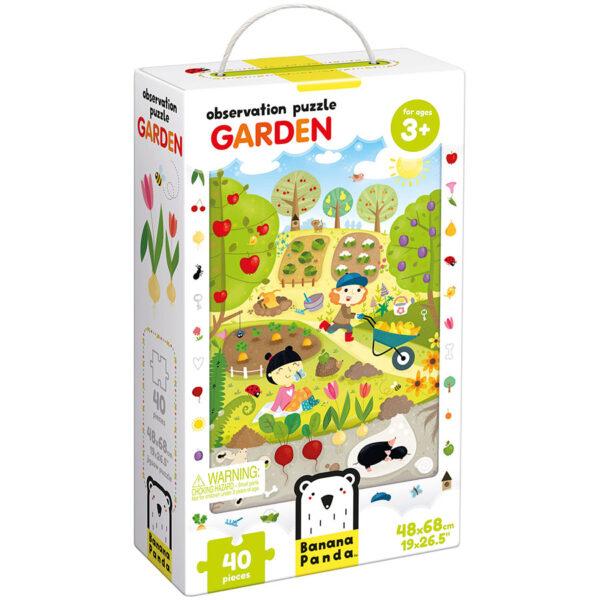 Floor puzzle garden for preschoolers - Observation Puzzle Garden