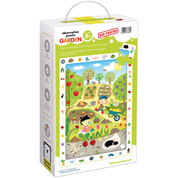 Educational puzzle for preschoolers - Observation Puzzle Garden