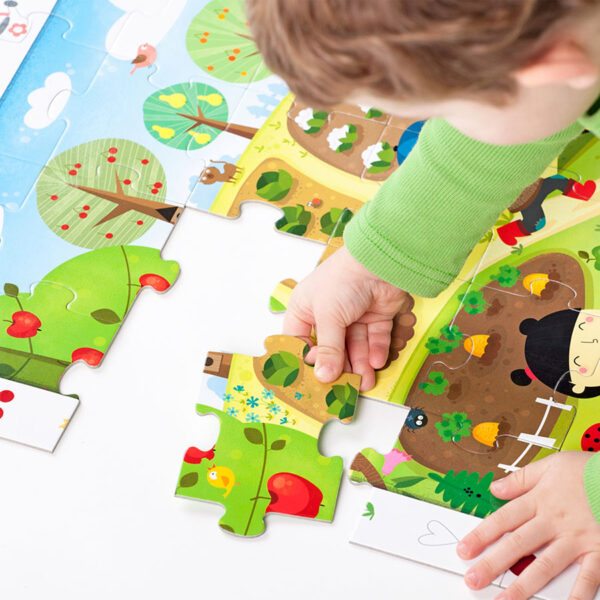 Fruits and vegetables puzzle - Observation Puzzle Garden