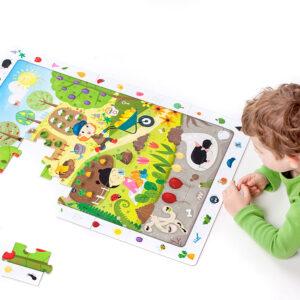 Observation Puzzle Garden - garden floor puzzle for kids 3+