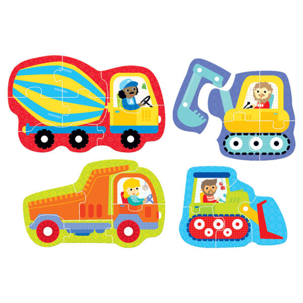 Educational puzzle set vehicles - Hands at Play Construction Vehicles 2+