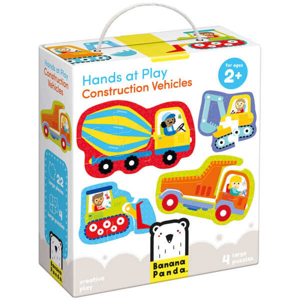 Progressive puzzles vehicles for toddlers - Hands at Play Construction Vehicles 2+