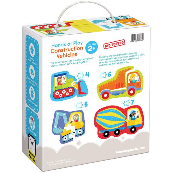 Vehicles educational set - Hands at Play Construction Vehicles 2+