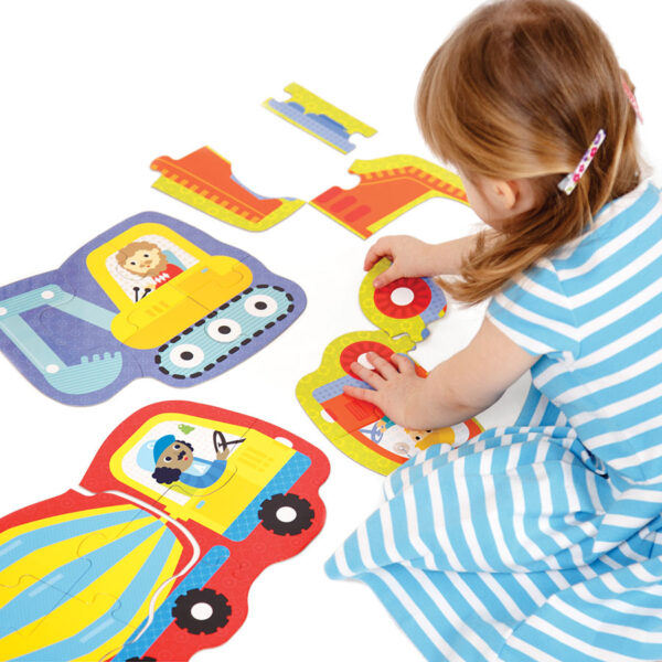 First puzzles vehicles set - Hands at Play Construction Vehicles 2+