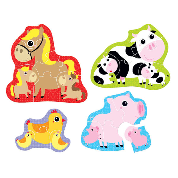 Educational puzzle set animals - Hands at Play Farm Animals 2+